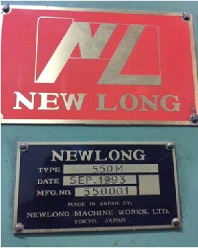 NEWLONG IN LINE 4 Colors FLEXO MOD 550M of 1993